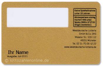 Westlotto Kundenkarte